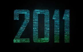 Картинка новый год, слова, 2011, типография