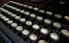 Картинка стиль, ретро, клавиши, машинка, печатная