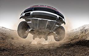 Обои дорога, прыжок, ford