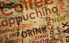 Картинка надписи, кофе, chocolate, coffee, milk, cappuchino, americano