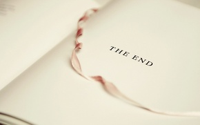 Картинка книга, конец, закладка, белый лист