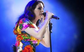 Картинка микрофон, певица, Lana Del Rey, Coachella