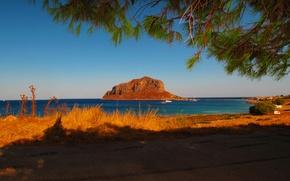 Обои греция, море, пейзаж, побережье, laconia