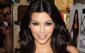 Картинка улыбка, модель, актриса, брюнетка, Kim Kardashian