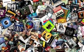 Картинка музыка, диски, коллекция