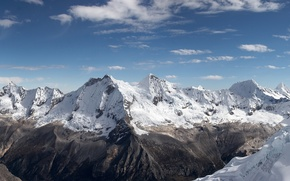 Обои горы, снег, облака