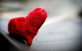 Картинка макро, красное, сердечко, нежно, романтично