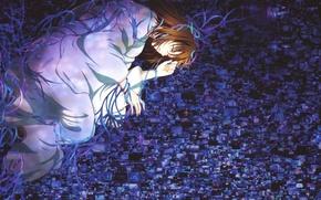 Картинка темнота, одиночество, безысходность, депрессия, отчаянье, Shiki Ryougi, Kara no Koukai, Сад грешников, the garden of …