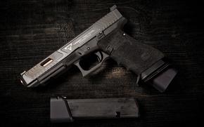 Картинка пистолет, фон, обойма, Taran Tactical, Combat Master