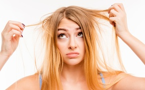 Картинка hair, concern, annoyance, hair problems suppleness