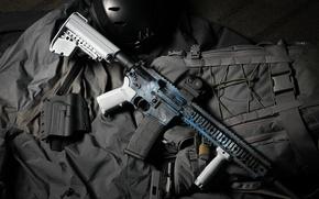 Картинка стиль, оружие, фон, AR 15, штурмовая винтовка