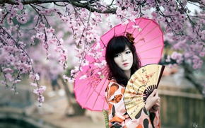 Картинка взгляд, девушка, стиль, азиатка