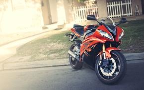 Картинка красный, мотоцикл, red, Yamaha, блик, motorcycle, ямаха, YZF-R6