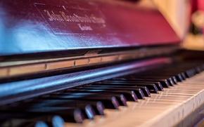 Обои фон, макро, пианино