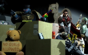 Картинка garrus vakarian, Ezio Auditore da Firenze, boba fett, Power Armour