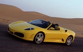 Картинка желтый, Ferrari, феррари, спайдер, Spider