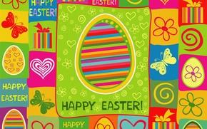 Картинка цвета, праздник, яркие, пасха, текстуры, Easter
