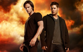 Обои Джаред Падалеки, Sam Winchester, Dean Winchester, Дженсен Эклс, Jared Padalecki, Supernatural, Jensen Ackles, Сверхъестественное