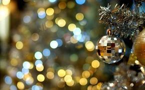 Картинка украшения, огни, настроение, праздник, волшебство, обои, новый год, ёлка, гирлянды, торжество