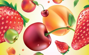 Обои ягоды, текстура, фрукты, texture, fruits, berries