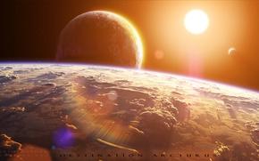 Картинка звезда, планеты, спутники, arctur