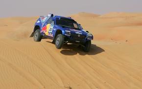 Картинка Volkswagen, Touareg Race, в песках