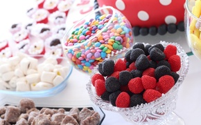 Обои конфеты, сладости, драже