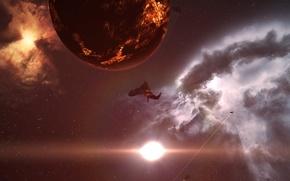 Картинка космос, туманность, EVE Online