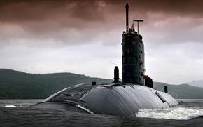 Картинка лодка, подводная, атомная, HMS TORBAY, Trafalgar -класс, (S90)