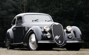 Обои ретро, фон, Alfa Romeo, передок, 1937, Berlinetta, Альфа Ромео, 2900B, Corto, Touring