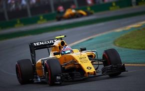 Картинка Поворот, Рено, Formula 1, Передок, Jolyon Palmer, Renauult
