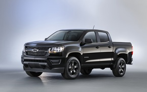 Обои 2015, chevrolet, colorado, lt, midnight, crew cab, шевроле