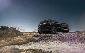 Картинка Front, Black, California, Forged, Sport, Land, Rover, Wheels, Range, Collection, Aristo