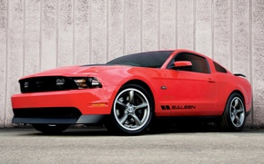 Обои Красный, Дорога, Mustang Saleen 435S