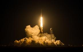 Картинка Дым, Ракета, NASA, Старт, Antares