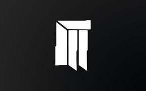 Картинка черный, логотип, rongen