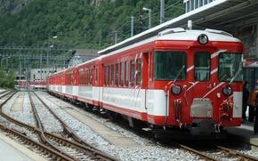 Картинка пути, станция, Поезд