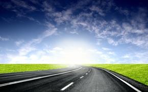 Картинка дорога, свет, горизонт, 153