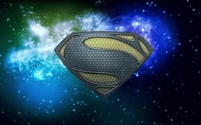 Картинка космос, superman, man of steel superman