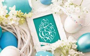 Картинка цветы, eggs, spring, Happy, flowers, Пасха, яйца, Easter, decoration, весна