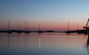 Картинка evening, yachts, croatia, kornati
