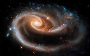 Картинка созвездие, Андромеда, UGC 1810, Arp 273