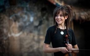 Обои violin, красавица, Линдси Стирлинг, скрипка, Lindsey Stirling, скрипачка