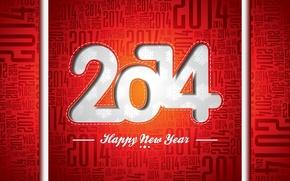 Картинка праздник, Рождество, Новый год, год, красный фон, 2014