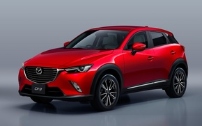 Картинка Mazda, Red, Crossover, 2016, CX-3