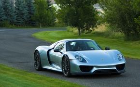 Картинка Porsche, road, Spyder, 918