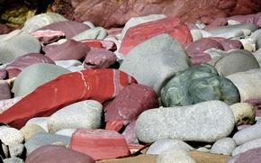 камни, берег, цвет, текстура обои