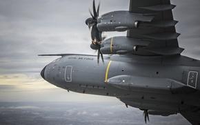 Картинка самолёт, военно-транспортный, четырёхмоторный, турбовинтовой, A400М