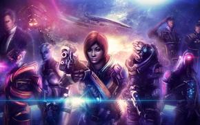 Картинка mass effect, Legion, Shepard, Garrus Vakarian, Geth, Reaper, Liara T'Soni, Prothean, Javik, Turian, Normandy SR-2, …