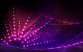 Обои круги, лучи, фиолетовый, розовый